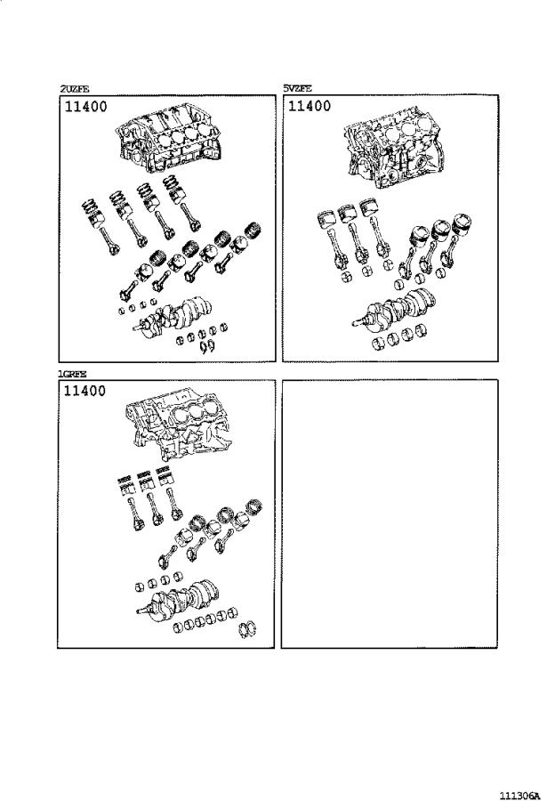 Toyota Tundra Engine Short Block  Assembly