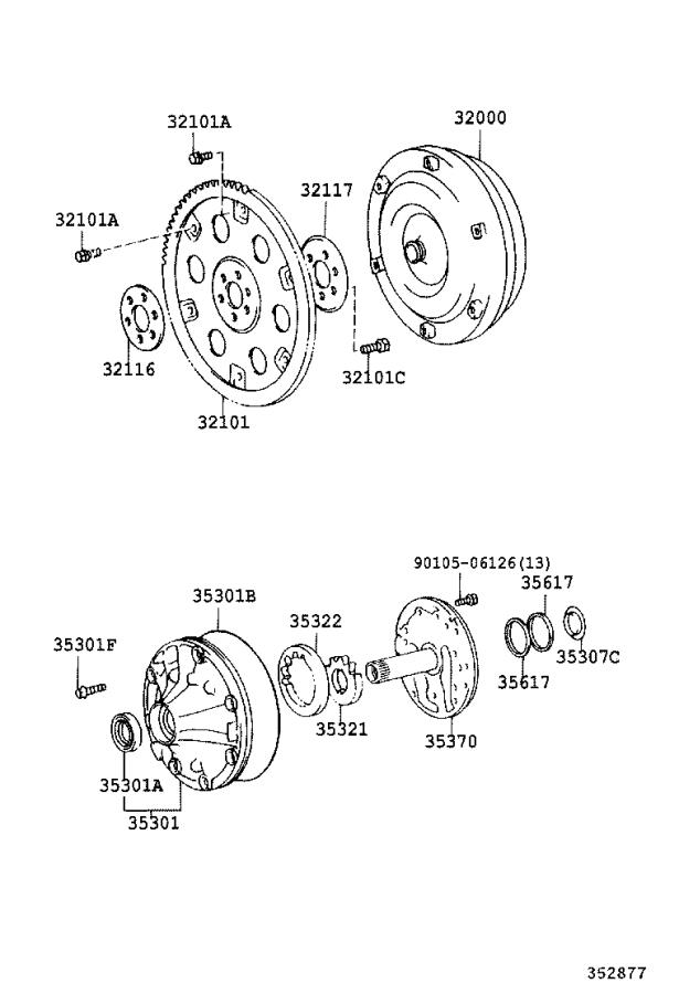 Toyota Sequoia Automatic Transmission Oil Pump Seal  Front