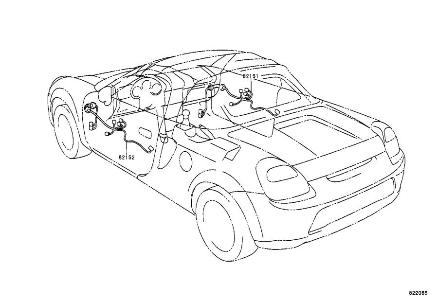 Toyota Mr2 Connector  Wiring Harness  Engine  Clamp