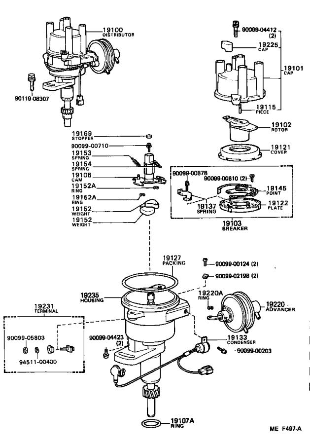 Toyota Land Cruiser Distributor O
